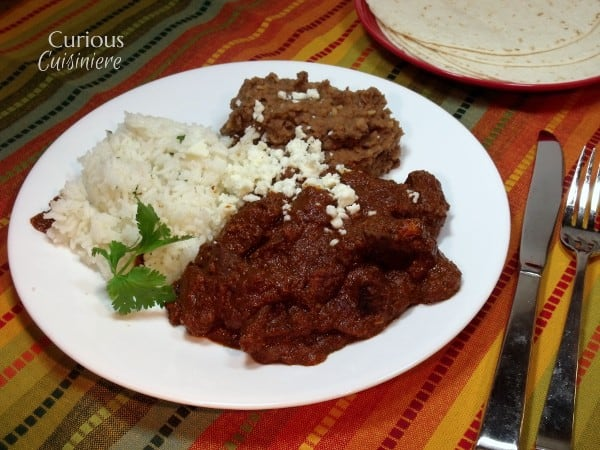 Mole Rojo (Mexican Red Mole Sauce) with Venison
