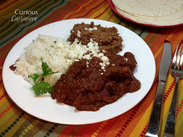 This is an easy recipe for a classic red mole sauce that we've paired with strips of venison steak. This Mexican mole rojo would pair just as well with beef. - Venison Mojo Rojo from Curious Cuisiniere