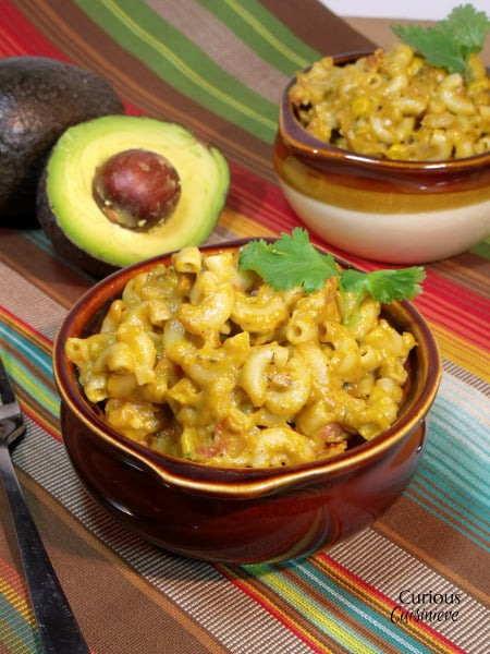 Mexican Avocado Mac and Cheese from Curious Cuisiniere