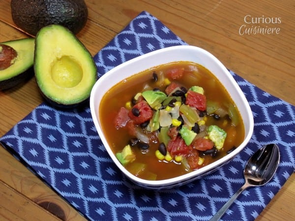Mexican Minestrone Soup with Avocados