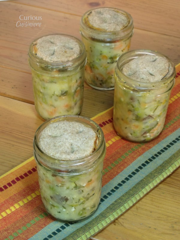 Vegetable Pot Pies in Jars from Curious Cuisiniere