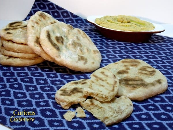 Roasted Garlic Naan from Curious Cuisiniere