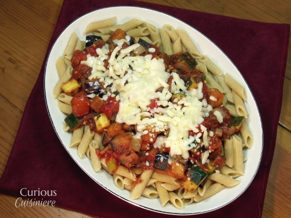 Ratatouille Pasta for #WeekdaySupper • Curious Cuisiniere