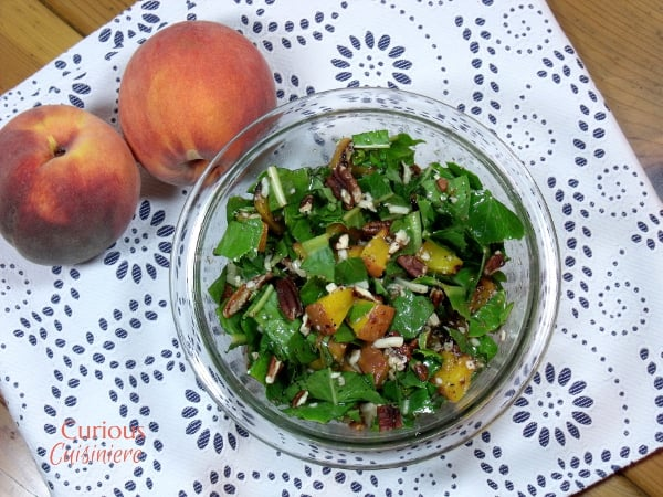 Grilled Peach Salad from Curious Cuisiniere