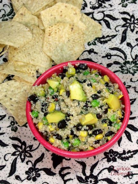 Avocado Quinoa Salad from Curious Cuisinere