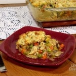 Bacon-Cheddar Biscuit Topped Turkey Pot Pie