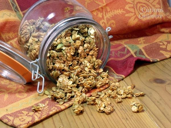 Pumpkin Spice Granola from Curious Cuisiniere