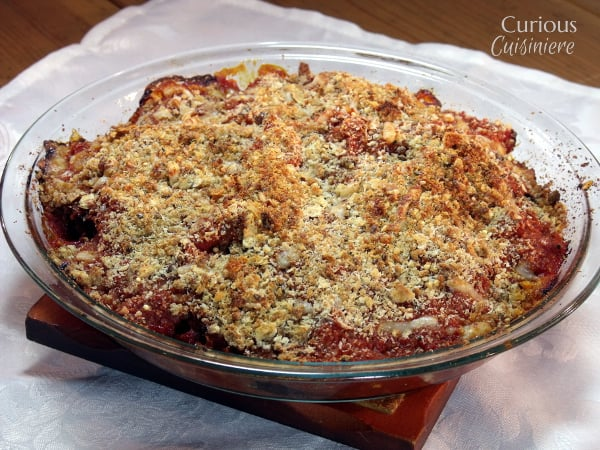 Baked Eggplant Parmesan from Curious Cuisiniere