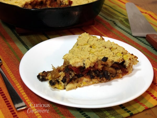 Chipotle Vegetarian Tamale Pie from Curious Cuisiniere