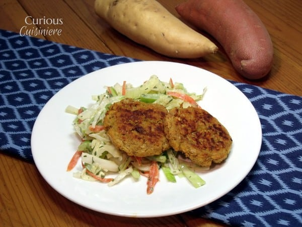 Baked Sweet Potato Falafel with Tahini Slaw