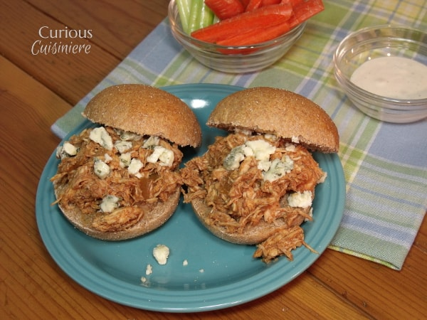 Buffalo Chicken - Lightened Up and Crock Pot from Curious Cuisiniere