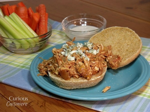 Lightened Up Crock Pot Buffalo Chicken