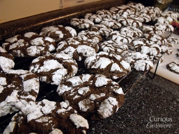 Chocolate Crinkle Cookies from Curious Cuisiniere