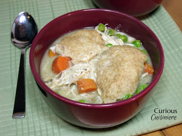 Crock Pot Chicken and Dumplings from Curious Cuisiniere