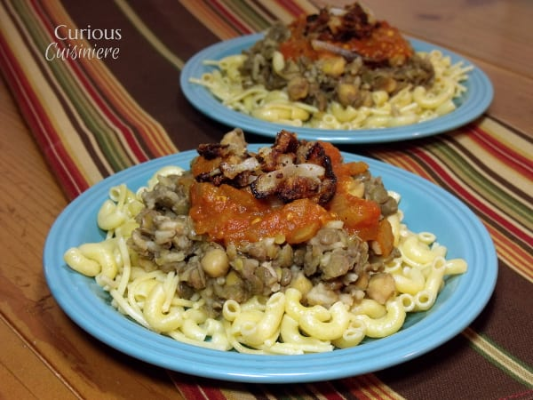 Kushari from Curious Cuisiniere