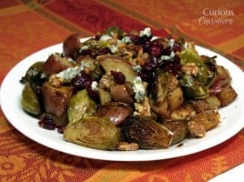Roasted Brussels Sprouts with Blue Cheese from Curious Cuisiniere