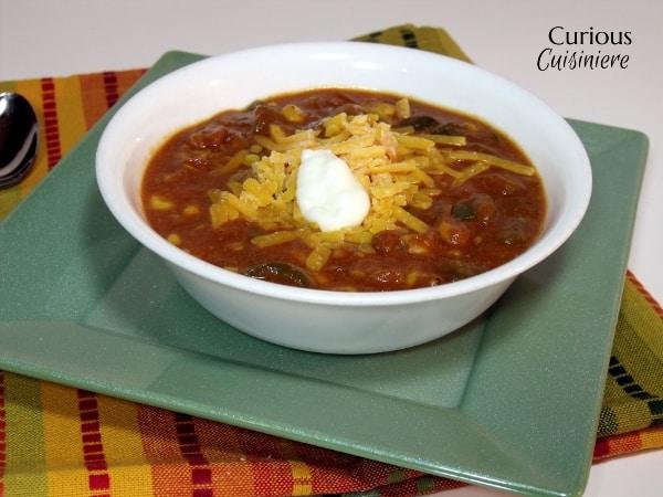Cheesy vegetarian enchilada soup from curious cuisiniere for Cuisinier vegetarien