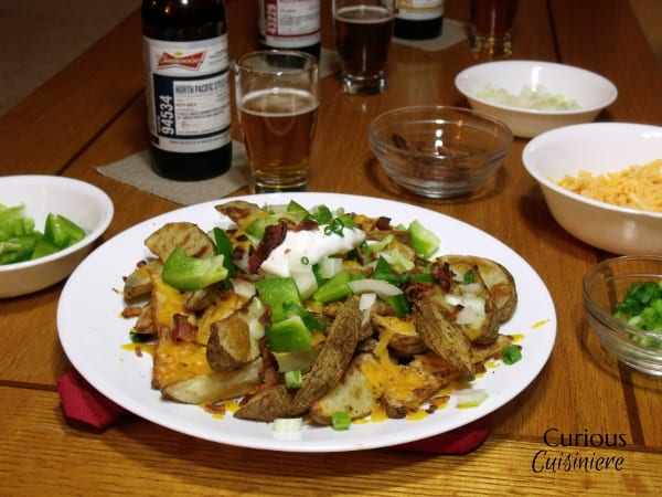 Loaded Baked Potato Nachos from Curious Cuisiniere