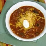 Cheesy Vegetarian Enchilada Soup {Crock Pot} #SundaySupper