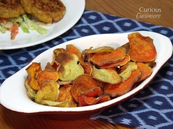 Baked Sweet Potato Chips from Curious Cuisiniere