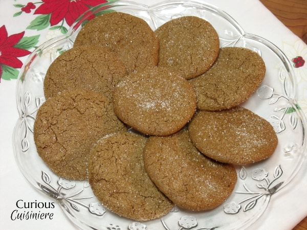 Soft and chewy Ginger Cookies with just enough crisp around the edges, bursting with the deep, seasonal flavors of ginger and molasses. | Curious Cuisiniere