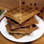 Christmas Waffles with Brandy Syrup
