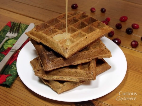 Christmas Waffles from Curious Cuisiniere
