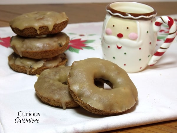 Baked Fruitcake Doughnuts from Curious Cuisiniere