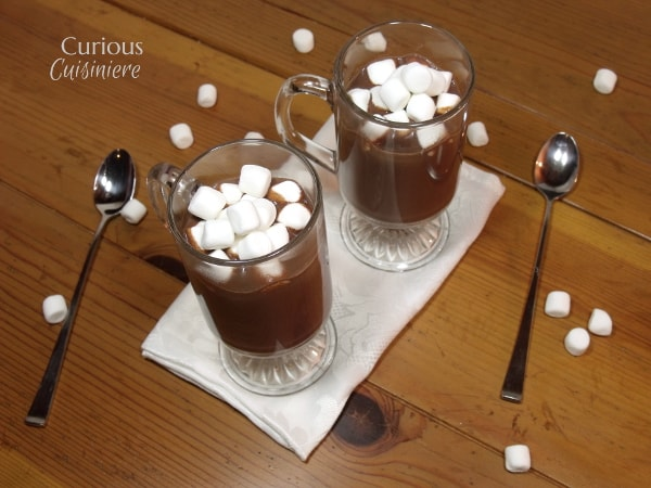 This rich dark hot chocolate recipe isn't for the faint of heart. If you like rich, creamy, dark chocolate, this homemade hot chocolate is for you.   Curious Cuisiniere