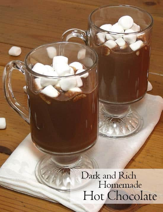 This rich dark hot chocolate recipe isn't for the faint of heart. If you like rich, creamy, dark chocolate, this homemade hot chocolate is for you. | www.CuriousCuisiniere.com