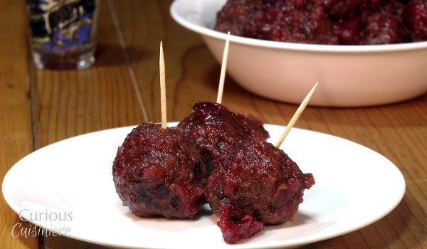 Cranberry Glazed Meatballs from Curious Cuisiniere