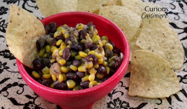 Sweet and Spicy Black Bean Salsa from Curious Cuisiniere