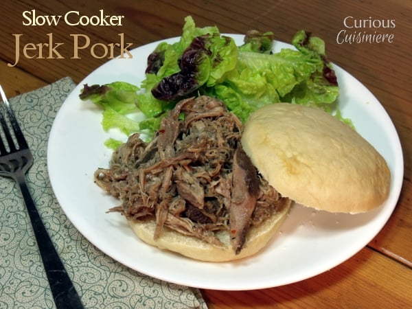 Slow Cooker Jerk Pork from Curious Cuisiniere