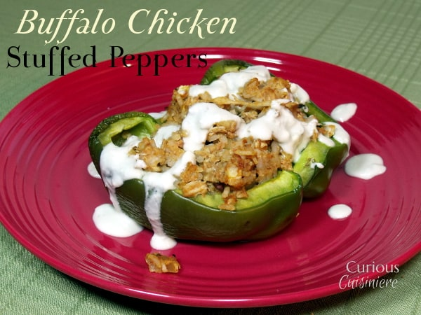 Buffalo Chicken Stuffed Peppers from Curious Cuisiniere