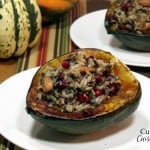 Pomegranate Rice Pilaf Stuffed Squash