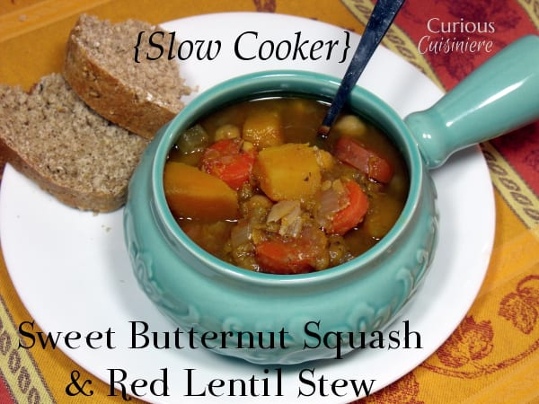 bowl with this Indian spiced, slow cooker, Butternut Squash and Lentil ...