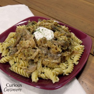 Polish Cabbage and Noodles (Lazanki) from Curious Cuisiniere