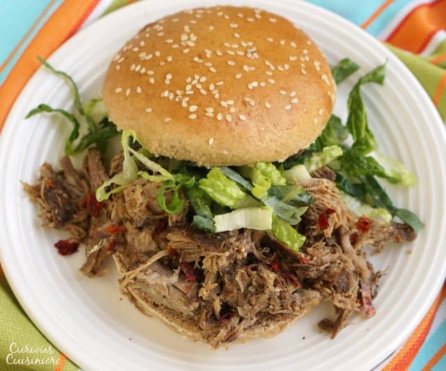 No need for an expensive spice mix or hard to find Scotch Bonnet peppers, this slow cooker Jerk Pork packs all the Jamaican flavor using spices you already have in your pantry.   www.CuriousCuisiniere.com