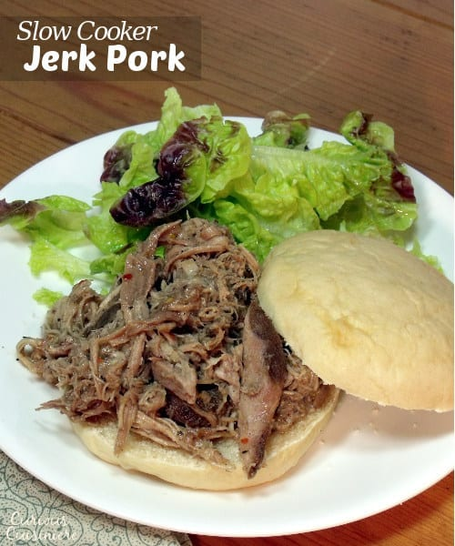 No need for an expensive spice mix or hard to find Scotch Bonnet peppers, this slow cooker Jerk Pork packs all the Jamaican flavor using spices you probably already have in your pantry. | www.curiouscuisiniere.com