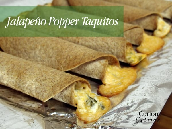 Cream cheese and jalapeno give these Jalapeno Popper Taquitos the creamy and spice combo you love, all rolled into crispy homemade taquitos. | Curious Cuisiniere