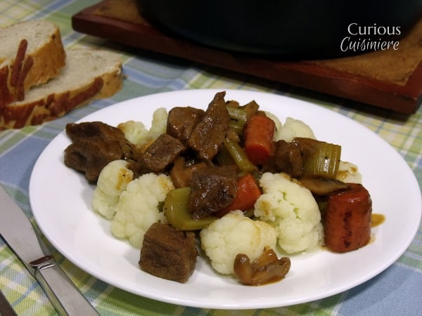 Chunky Beef and Cauliflower Stew  - Curious Cuisineire