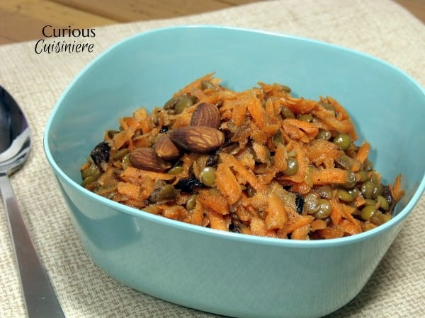 Carrot Raisin Salad with Lentils from Curious Cuisiniere