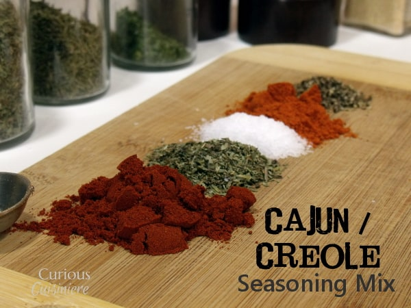 Make your own Creole and Cajun Spice Mix from spices and herbs you already have in your pantry! It's perfect for adding New Orleans seasoning to any dish! | www.CuriousCuisiniere.com