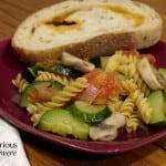 Zucchini and Mushroom Skillet Pasta Primavera