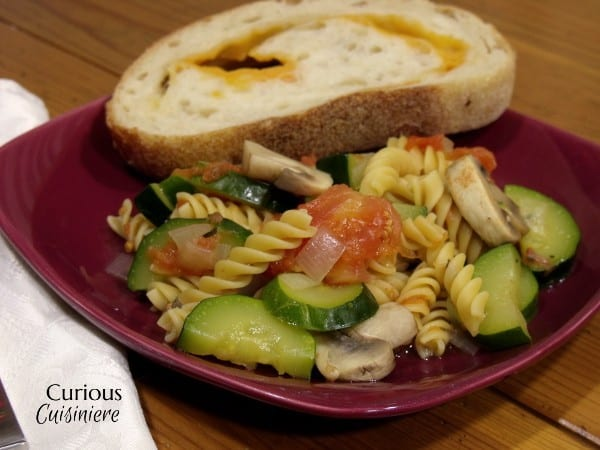Skillet Zucchini Pasta Primavera