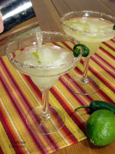 Chili Lime Margarita from Curious Cuisiniere