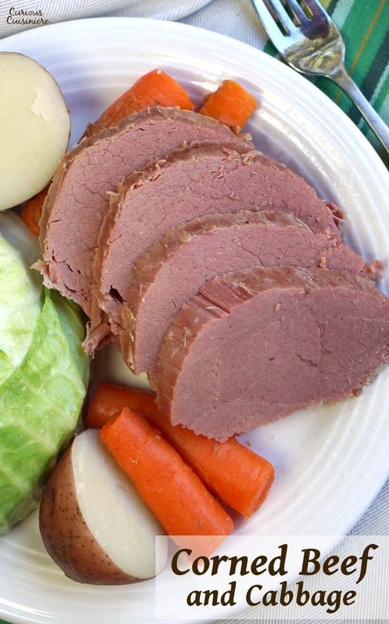 While it might not be an Irish dish, Corned Beef and Cabbage has become the staple dish of St. Patrick's Day. Find out why! | www.CuriousCuisiniere.com