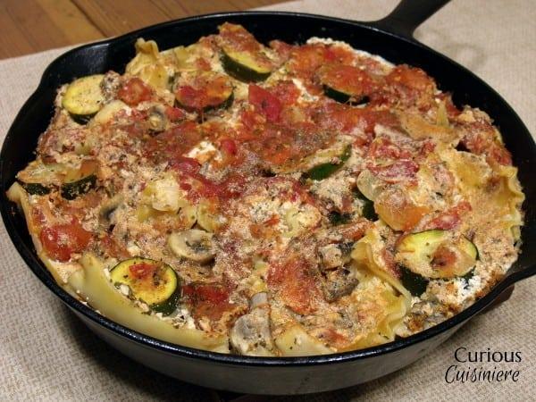 Zucchini and Mushroom Skillet Lasagna