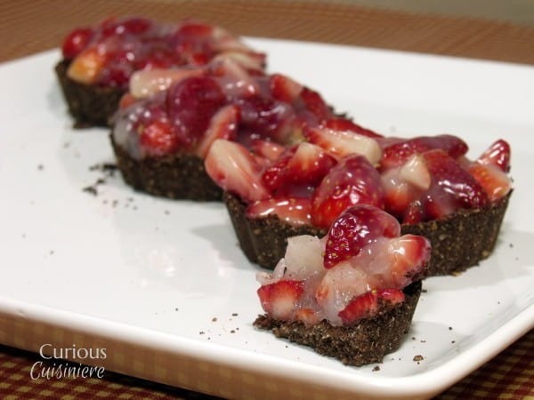 Mini Strawberry Black Bottom Pie