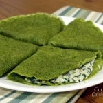 Shamrock Spinach Crepes #SundaySupper